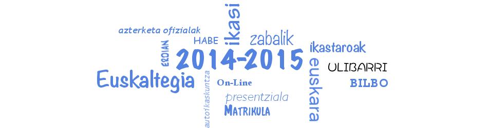 2014-2015 Eskaintza